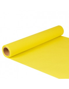 Camino de mesa papel color amarillo 5 m x 40 cm Royal Collection