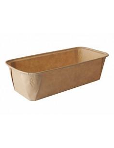 Moldes para hornear compostables papel marrón 1033ml Pure