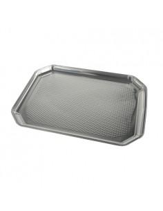 Bandejas servicio catering canapés de aluminio 35 x 26 cm