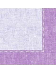 Servilletas papel decoradas Royal Collection Linum lila 40 x 40 cm