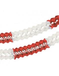 Guirnalda Para Grandes Espacios Papel Rojo Blanco Ø 16 cm x 10m