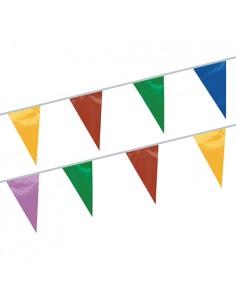Cadena Banderines Plástico de Colores 20m Impermeable