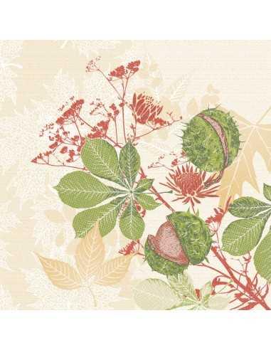 Servilletas de papel decoradas Royal Collection 40 x 40 cm Autum Leaves