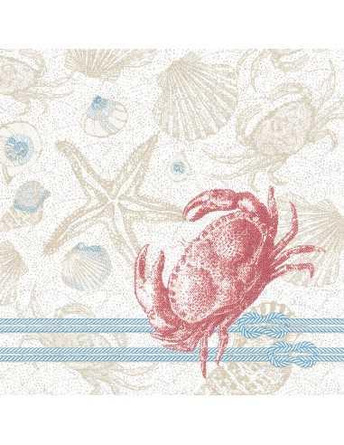 Servilletas papel decoradas Royal Collection 40 x 40 cm Krabbe
