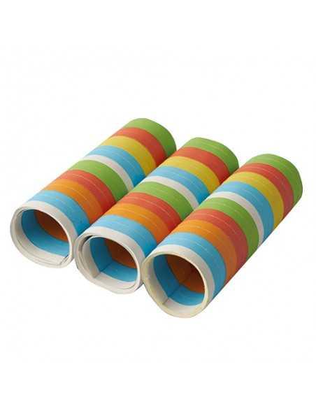 Serpentinas de papel colores motivos surtidos 4 m