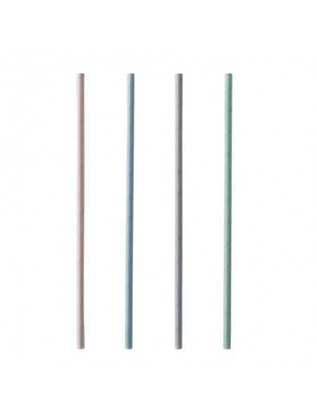Cañitas de Papel Colores Surtidos Pastel Ø 6mm x 21cm Pure