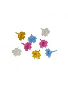 Posavelas de cumpleaños plástico colores surtidos