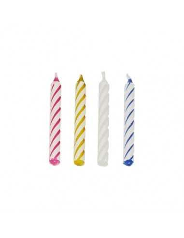Velas de cumpleaños clásicas de 6 cm de colores