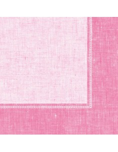 Servilletas papel decoradas Royal Collection Linum rosa 40 x 40 cm