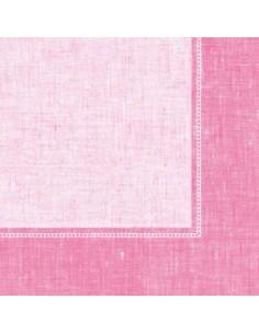 Servilletas papel decoradas Royal Collection Linum rosa 40 x 40 cm