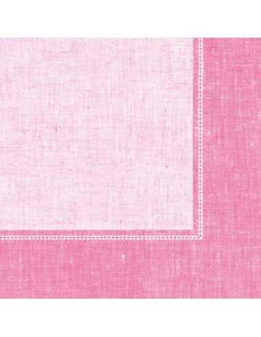 50 Servilletas Decoradas Color Rosa Claro Royal Collection 40x40 cm Linum