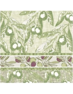 50 Servilletas Decoradas Royal Collection 40 x 40 cm Verde Olive