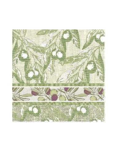 Servilletas papel decoradas 40 x 40 cm verde Oliva Royal Collection