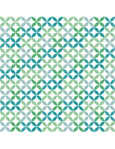 Servilletas de papel decoradas verde 33 x 33 cm Graphic