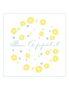 Servilletas de papel impresas Bon Appétit blancas 33 x 33cm