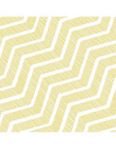 Servilletas de papel decoradas amarillo 33 x 33 cm Wavy
