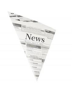 300 Bolsas Cónicas Papel Pergamino Artificial Anti Grasa 32,5 x 23 x 23 cm Newsprint