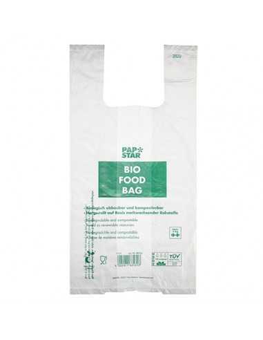 Bolsas camiseta biodegradables 55 x 28 x 20cm transparentes