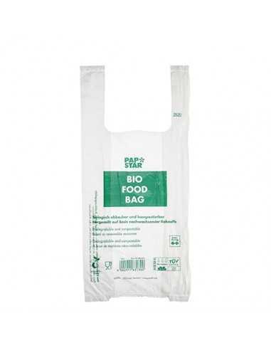 Bolsas camiseta biodegradables transparentes 47 x 22 x 13cm