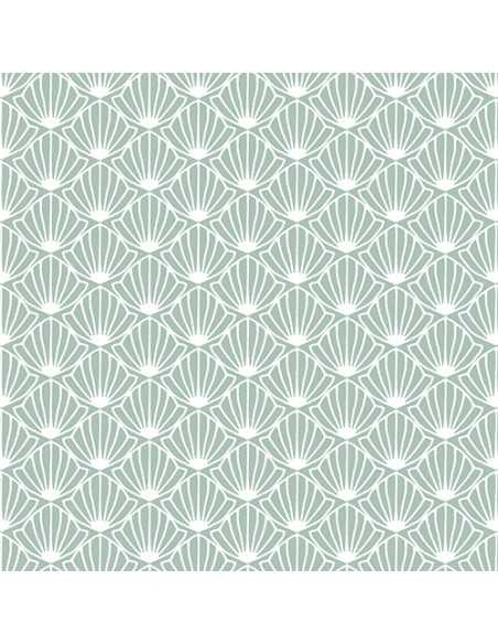 30 Servilletas 33 x 33 cm Decorada Color Verde Menta Shell