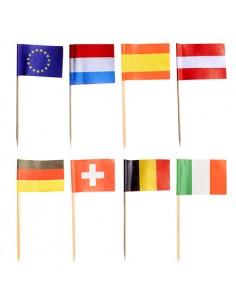 Palillos banderas naciones surtidas decorativos 8cm