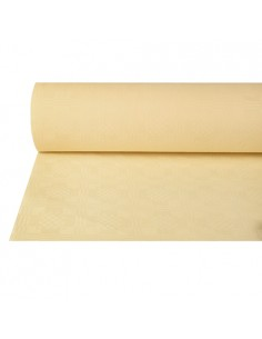 Rollo Mantel Papel Gofrado Damasco Color Crema 50 m x 1m