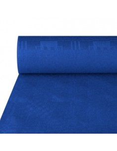 Rollo mantel papel azul hostelería gofrado damasco 50 x 1m