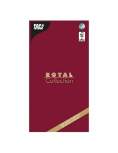 Mantel de papel individual burdeos 120 x 180 cm Royal Collection