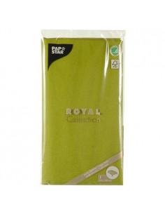 Mantel de papel individual verde oliva 120 x 180 cm Royal Collection