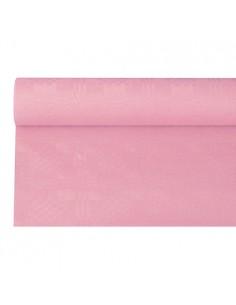 Rollo mantel papel gofrado rosa claro 6 x 1,2 m