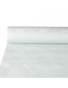 Rollo mantel papel color blanco gofrado damasco 10 x 1,2m
