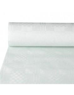 Rollo mantel papel blanco con gofrado damasco hostelería 50 x 0,8 m
