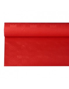 Rollo mantel papel gofrado damasco rojo 8 m x 1,2 m