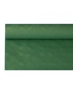 Rollo mantel papel gofrado damasco verde oscuro 8 m x 1,2 m