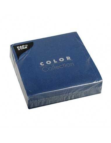 Servilletas de papel azul oscuro 33 x 33 cm Color Collection
