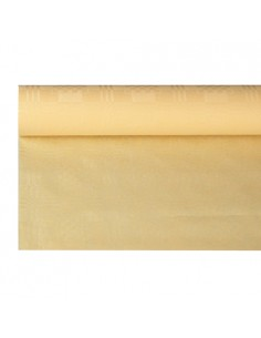 Rollo Mantel Papel Gofrado Damasco Color Crema 6 m x 1,2 m