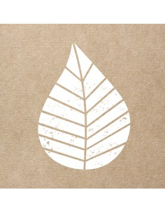 Servilletas de papel decoradas hoja color natural 33 x 33 cm Graphic Leaves