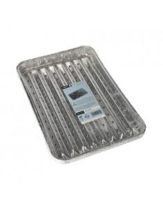 5 Bandeja de Aluminio Para Asar en Barbacoa 23 x 24 cm