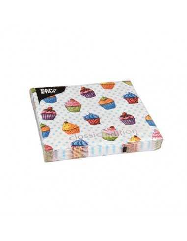 20 Servilletas Decoradas Cupcake 33 x 33 cm