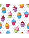 Servilletas de papel decoradas cupcake 33 x 33 cm