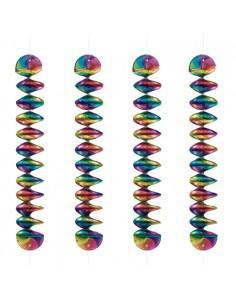 4 Espirales Giratorias Ø 7,5 x 60 cm Rainbow