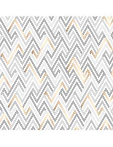 Servilletas de papel decoradas geométricas gris claro 33 x 33cm