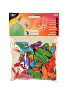 100 Globos De Agua Colores Surtidos Ø 9 cm
