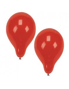 10 Globos de Color Rojo de Ø 25 cm