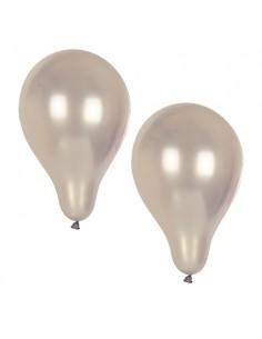 Globos de color plata para fiestas de Ø 25 cm