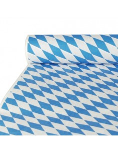 Mantel Papel Gofrado Damasco Baviera Azul 10 x 1m