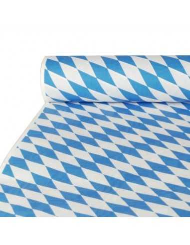 Rollo mantel papel baviera azul gofrado damasco 10 x 1m