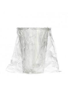 50 Vasos de Bio-Plastico PLA Transparentes Envueltos Pure Ø 7,03 x 9,7 cm 0.2L