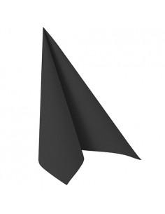 Servilletas papel aspecto tela Royal Collection color negro 40 x 40 cm