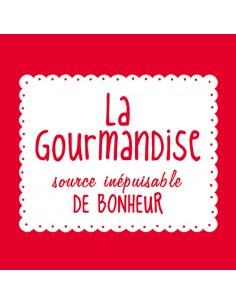 Servilletas papel rojo impresas texto La Gourmandise 33 x 33 cm